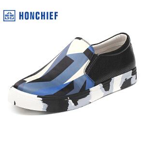 红蜻蜓旗下品牌  HONCHIEF男鞋休闲鞋秋冬鞋子男板鞋 KTA1022