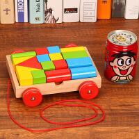 20181226080948603拖拉学步玩具拉车婴儿幼儿拖拉车儿童手拉绳拉线玩具车拉绳玩具车