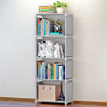 蜗家简易书架加固书柜现代简约桌上书架置物架自由组合层架