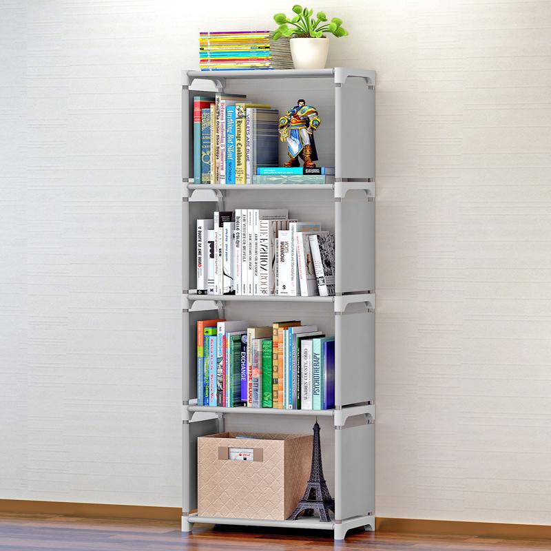 蜗家简易书架加固书柜现代简约桌上书架置物架自由组合层架 简单实用  多功能五层收纳