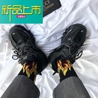 新品上市三老爹男鞋韩版原宿百搭网红鞋女运动学生跑步鞋