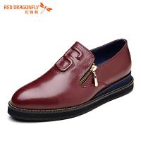红蜻蜓男鞋休闲皮鞋秋冬休闲鞋子男WZA6186
