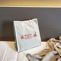 chic帆布包夏季新款女包单肩包ins超火包大容量包简约托特包