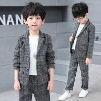 儿童西装 男童西服套装2020秋装新款男孩中大童韩版小西服儿童帅气两件套
