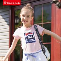 【秒杀价:60元】探路者儿童T恤 19春夏户外女童柔软滑爽短袖T恤QAJH84146
