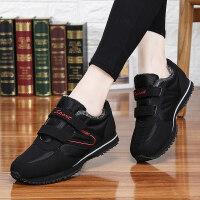 冬季安全老人鞋中老年健步冬天妈妈加绒软底运动鞋保暖棉鞋