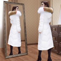 羽绒服女2018新款韩版中长款长过膝白鸭绒时尚女装冬外套潮