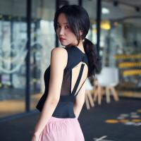美背性感瑜伽运动背心女带胸垫防震聚拢速干跑步紧身健身内衣