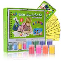 儿童沙画礼盒套装 环保彩砂画手工绘画彩沙幼儿园玩具 沙画套装