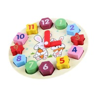 小孩子玩具�底�r��e木制串珠穿��r�早教益智形�钪橇ζ�D�和�玩具1-3�q送�和�生日�Y物
