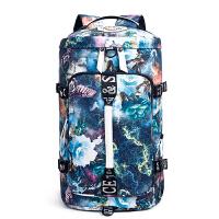 旅行背包大容量多功能书包女韩版双肩包男健身包三用包旅游行李包 防大号 (有侧兜