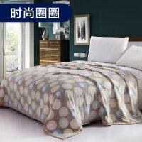 冬季法兰绒毛毯珊瑚绒毯子单件加毛绒床单加厚保暖垫被子双人k 230x250cm加厚保暖绒毯 盖毯/床单