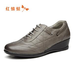 红蜻蜓女鞋秋冬皮鞋鞋子女WEB7582