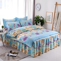 床上用品加厚磨毛床裙四件套1.5米1.8m床裙被套2枕套k