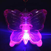 发光蝴蝶挂件 七彩闪光儿童抖音玩具挂饰装饰品项链夜市创意小礼品