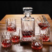 欧式创意水晶玻璃威士忌杯 洋酒杯酒瓶酒具套装家用套装啤酒杯