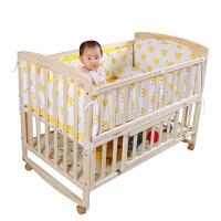 婴儿折叠床婴儿床实木拼接大床bb宝宝床新生儿多功能可折叠摇篮床儿童床ZQ206