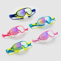 儿童大框泳镜泳帽套餐少年防水防雾男童女童小孩游泳眼镜潜水