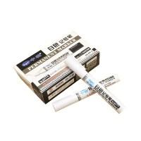 中柏记号笔 SM389白色油性轮胎笔 皮革玻璃标记笔 大头笔 10支/盒