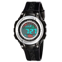运动手表双色带大屏新款动感机芯炫酷学生电子表
