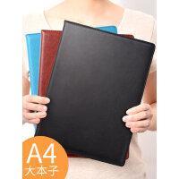 a4笔记本子记事本商务黑皮大号的加厚超厚超大高档工作本子手册日记本记录本女创意大学生用简约b5皮面本文具