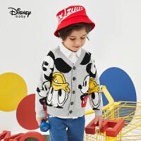 【2件5折后价:149.5元】迪士尼童装2020春季新款男童时尚卡通毛衣外套儿童针织衫上衣开衫