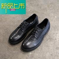 新品上市阿美咔叽设计简约男士德比皮鞋低帮系带英伦小皮鞋 男