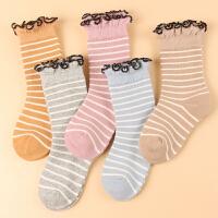 秋冬女童袜5双儿童袜棉中筒柔软舒适加厚保暖款不勒脚学生袜子