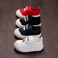 宝宝学步鞋男童帆布鞋2019新款1-3岁婴幼儿软底布鞋女小童板鞋潮