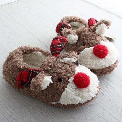 棉拖鞋女包跟室内软底情侣棉鞋冬季可爱毛毛拖鞋秋冬天产后月子鞋