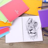 法国康颂速写薄A4/A5学生用手绘素描线圈本成人初学者随身简约纯色彩铅蜡笔空白画本美术涂鸦绘画本素描纸