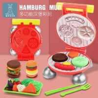 �h堡�C彩泥模具工具套�b�o毒橡皮泥�和�超�p粘土男孩玩具手工制作