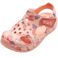 女童凉鞋宝宝男童中大童软底小童公主鞋包头儿童洞洞鞋
