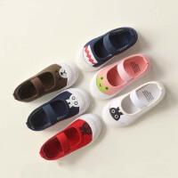 春秋季儿童帆布鞋 一脚蹬男童布鞋女童单鞋小童板鞋1-5岁懒人潮鞋