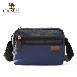 camel骆驼户外休闲单肩斜挎包 男女通用5L左右织物出游挎包