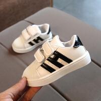学步婴儿鞋童鞋女宝宝春秋板鞋1-3-5岁2男宝宝鞋女童贝壳头运动鞋