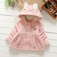 女宝宝棉袄婴幼1-2-3-4岁女童棉衣外套外出服夹薄棉深秋冬款