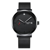 手表男士时尚潮流学生网带石英男表 商务休闲腕表