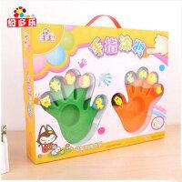 纷多乐 儿童手指画 颜料套装 宝宝DIY 涂鸦绘画 印章工具 可水洗