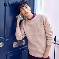 【GXG过年不打烊】GXG男装 秋季时尚粉色低领毛衣圆领毛衫针织衫男#173820005