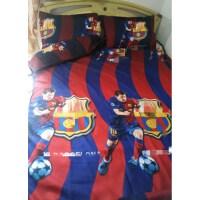 欧冠足球三件套西甲巴萨皇马单人床被套床单床上用品