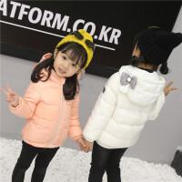 女童羽绒服小童宝宝公主轻薄短款2018秋冬新款儿童白鸭绒外套