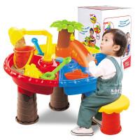 儿童沙滩玩具车套装沙滩桌宝宝玩沙挖沙漏大号铲子夏天戏水洗澡