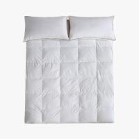当当优品羽绒床垫 纯棉立体加厚鸭绒床垫 双人加大床褥180*200cm