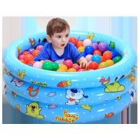 婴儿游泳池婴儿澡盆浴盆三环充气水池波波池海洋球池
