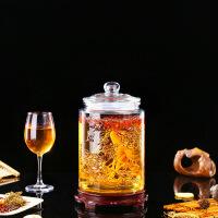 家用密封加厚泡酒玻璃瓶人参泡酒瓶带龙头5斤20斤泡酒坛子泡酒罐