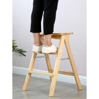 【支持礼品卡】餐凳梯凳可折叠高凳子厨房创意实木板凳家用多功能椅子3pd