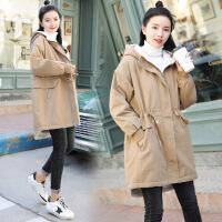 厚风衣女宽松保暖 孕妇冬装外套2018新款韩版时尚中长款加绒
