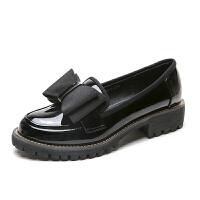 英伦风女鞋子春季新款软妹小皮鞋韩版大码粗跟单鞋女