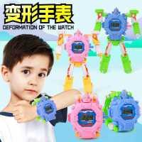 �形玩具�和��子手表�身女孩男孩1-3�q小孩�e木金��模型�C器人